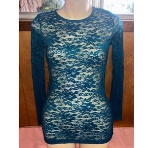 Forever 21 Teal Lace Top, Size Small, BNWOT